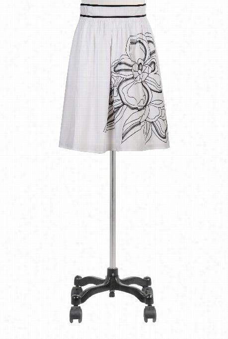 Eshakti Women's Florall Tulle Embellishedpo Plin Skirt