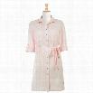 eShakti Women's Cotton seersucker check shirtdress