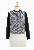 eShakti Women's Geo print front ponte bomber jacket