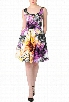 eShakti Women's Splash print stretch cotton dress