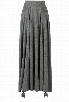 eShakti Women's The leanear pleats skirt