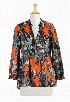 eShakti Women's Zip front floral print crepe top