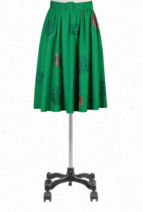 Eshakti Women's Embellished Rose Poplin Edge