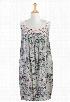 eShakti Women's Pastel floral embellished shift dress