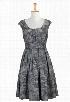 eShakti Women's Pleat neck check print dress