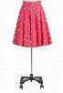 eShakti Women's Polka dot print poplin full skirt