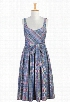 eShakti Women's Seersucker check longer length dress