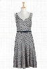 eShakti Women's Star print sweetheart dress