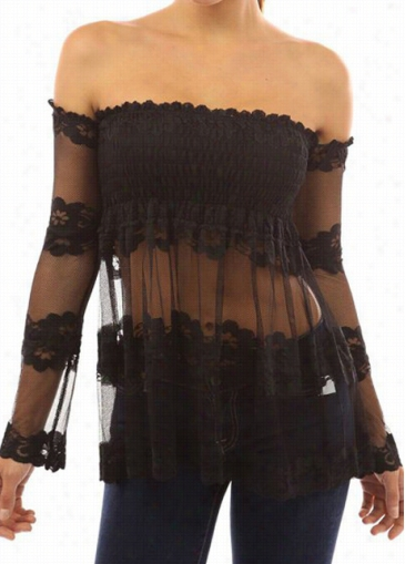 Long Sleeve Open Back Lace Dismal Blose