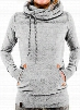 Hooded Collar Pocket Design Grey Sweats