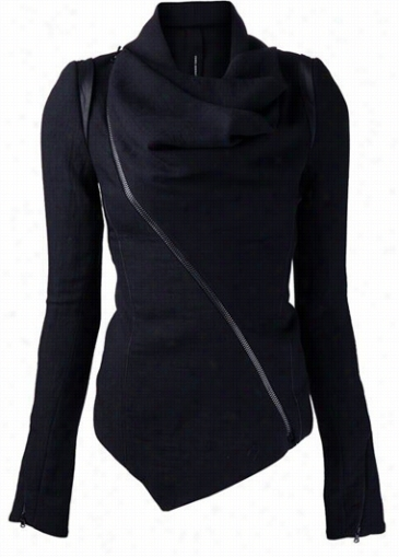 Dismal Long Sleeve Asymmetric Hem Jacket