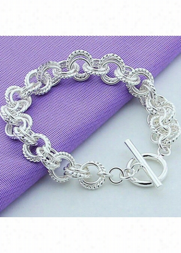 Fash Ion Silver Metal Bracelet For Women