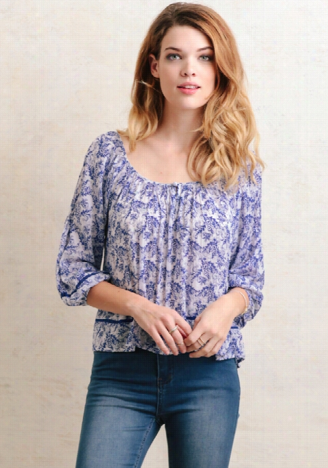 Ocean Riches Pr Inted Blouse