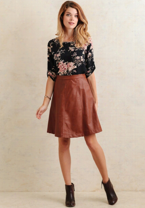 Roxanne Faux Leather  Skirt