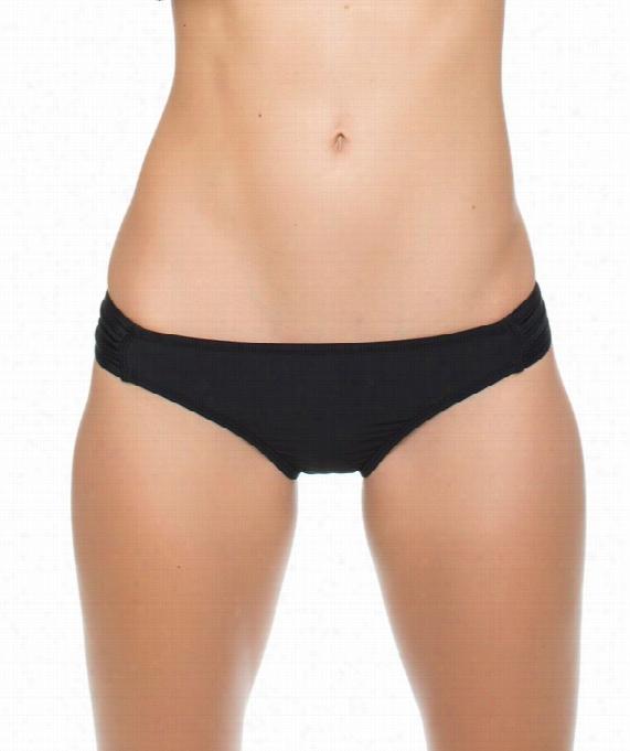 Cabana S Olids  Tab Side Bikini Bottom Color: Murky Size: 4