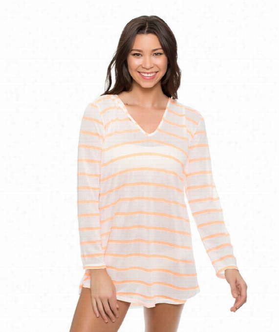 Hamptons Knit Tuniic Color: Tangerine Size: Xs