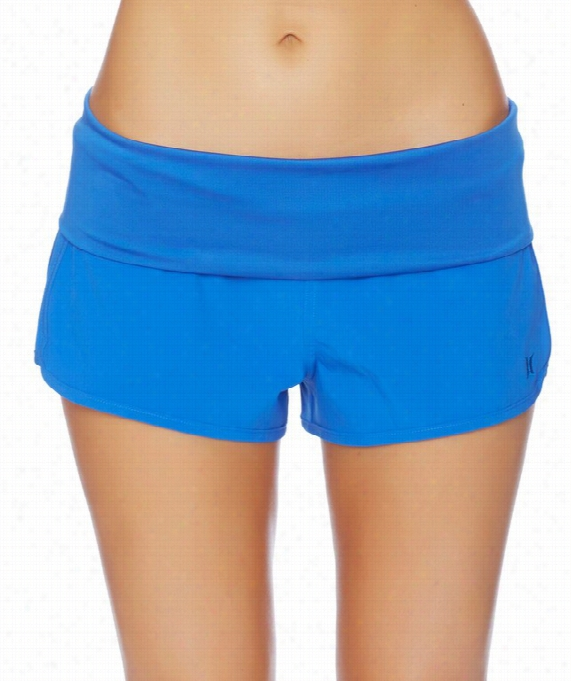 One & Only Solids Foldover Short Color :blue Size: L