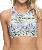 Fine Lines Crop Top Bra Color: PUR Size: S