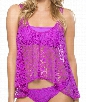 Free Spirit Layer Up Tankini Color: MGT Size: L