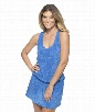 Hamptons Terry Dress Color: Blue Size: L
