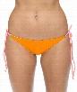 Raglan Reversible Tie Side Bikini Bottom Color: Tangerine Size: M