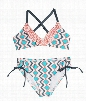 Splendid Girls - Astoria Bralette Top & Tunnel Bottom Color: GRY Size: 10
