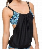 Weekend Warriorr Double Up Tankini Color: Blue
