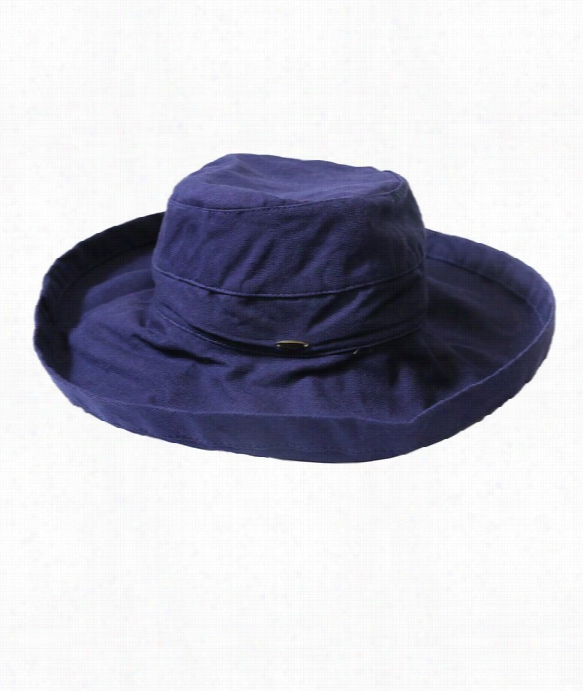 White 3in Brim Hat Color: Navy Size: Os
