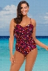 18-24 Red and Black Twist Front Swimsuit