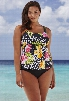 Beach Belle Texas Rose Flared Tankini