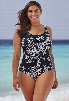 Swim 365 Black and White Printed 26-34 Maillot