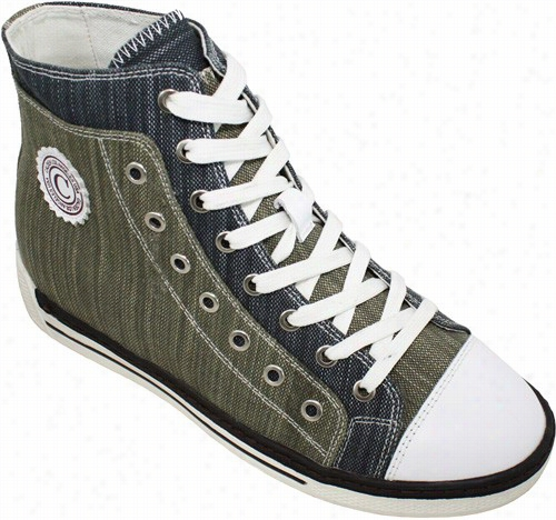 Calden - K8828992 - 3 Inches Taller (olive And Blue)