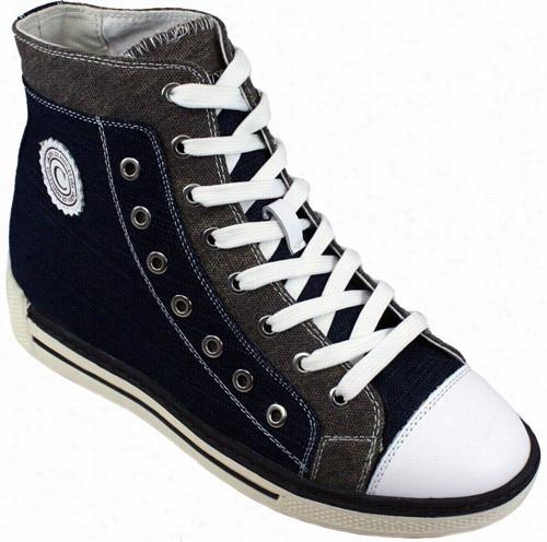 Calden - K8828993 - 3 Inches Taller (blue Denim And Grey)