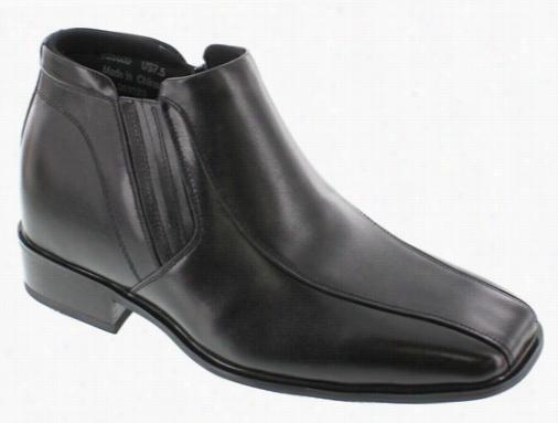 Calden - K99805 - 3.2 Inches Taller (black) Zipper Boots