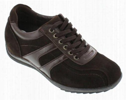 Calto - G60973 - 2.8 Inches Taller (nubuck Dark Brown) - Lightweight